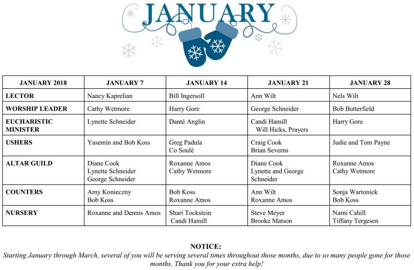 Schedule 2018.01