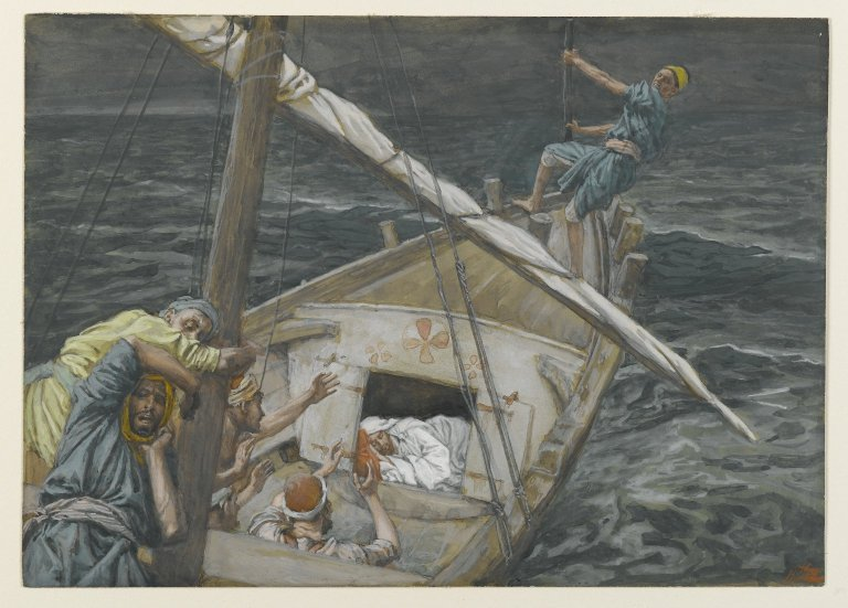 Image result for jesus asleep in the boat